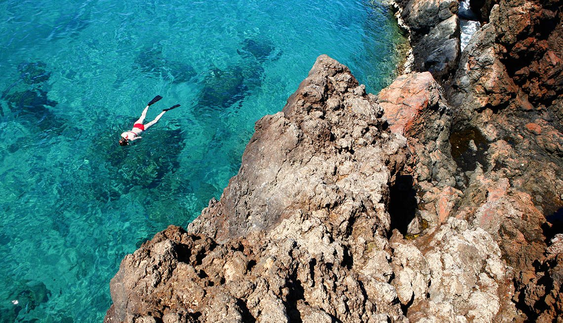 Aerial View Of Woman Snorkeling In The Water, How To Choose A Guided Tour