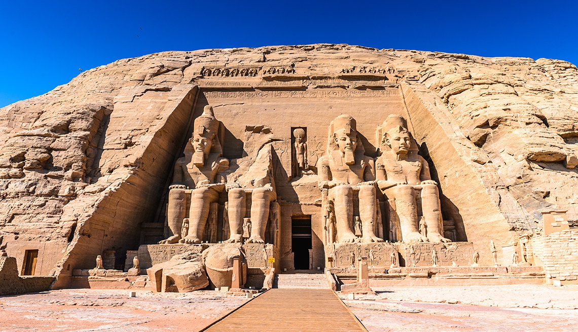 The Great Temple Of Ramses II In Abu Simbel Egypt, International Ruins