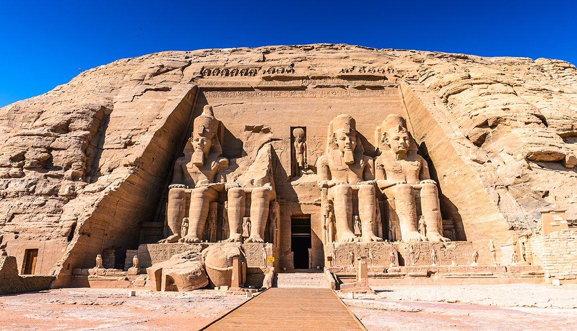 The Great Temple Of Ramses II In Abu Simbel Egypt, International Ruins