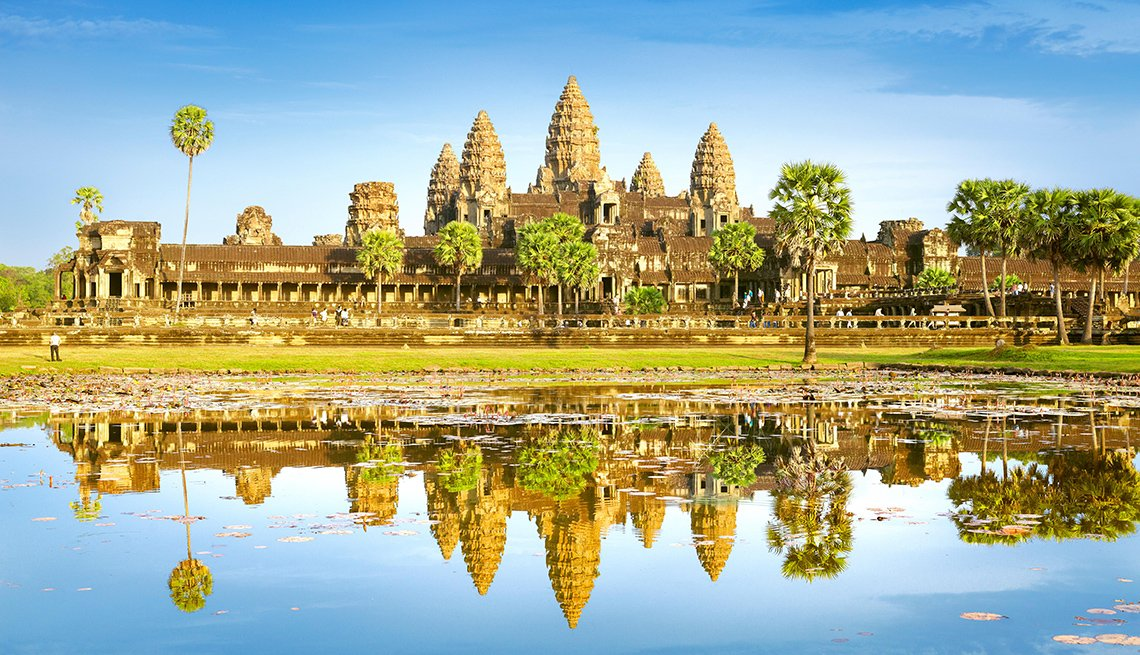 The Angor Wat Temple In Cambodia, International Ruins
