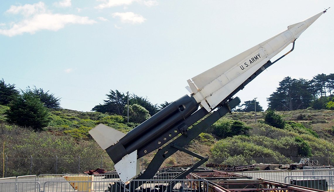 Nike Hercules Missile in Marin Headlands, Golden Gate National Recreation Area in Marin County, California, Hidden Wonders at American Attractions