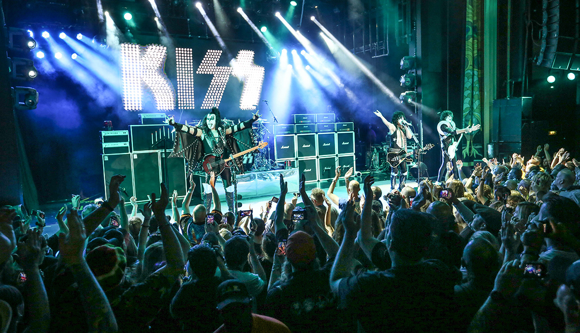 The Stage At A KISS Concert, Theme Cruises