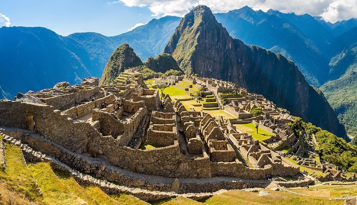 View Of The Ruins At Machu Picchu In Peru, International Ruins