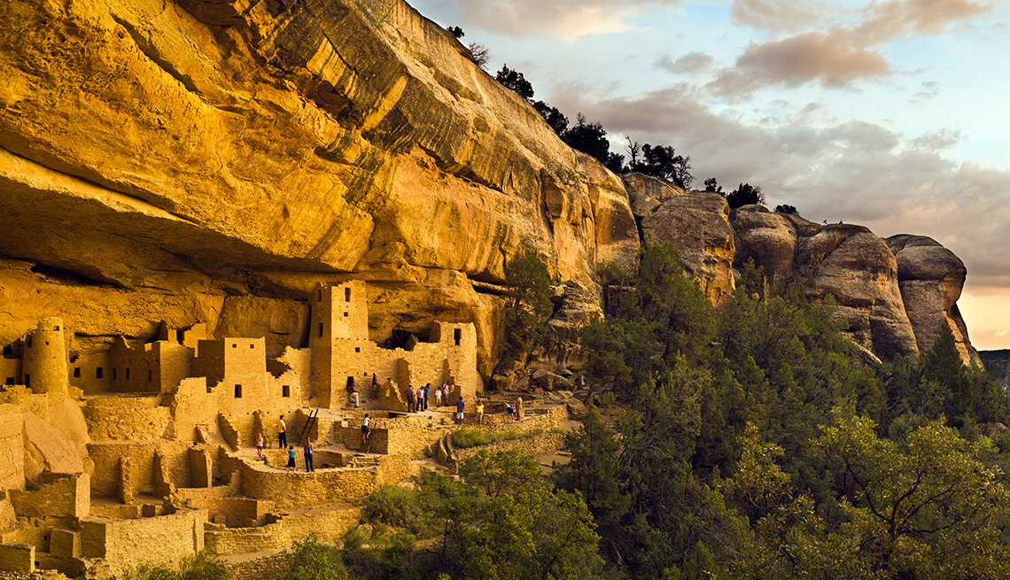 Cliff Palace In Mesa Verde National Park In Colorado, International Ruins