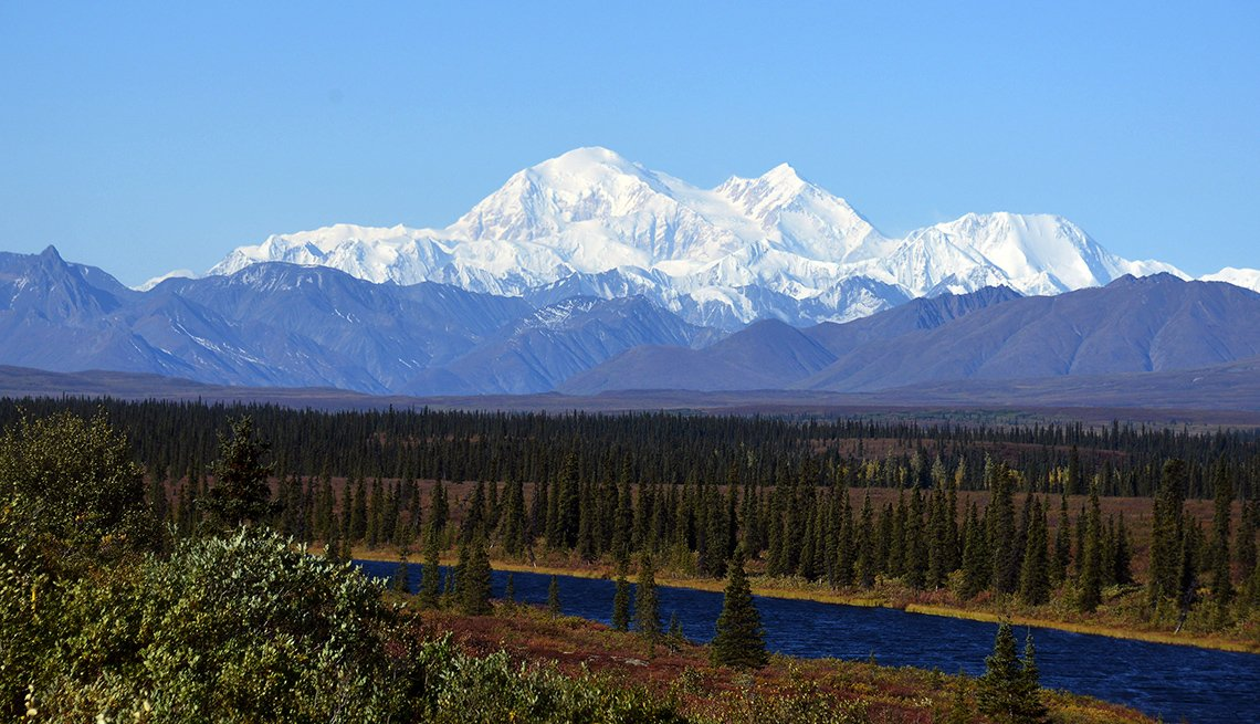 Mount McKinley From The Denali Alaska Line, Scenic Railways