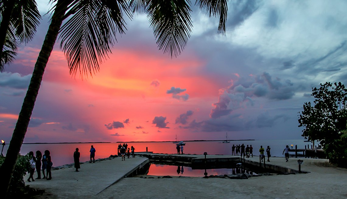Tourists Enjoy The Sunset On The Beach, Travel Trends
