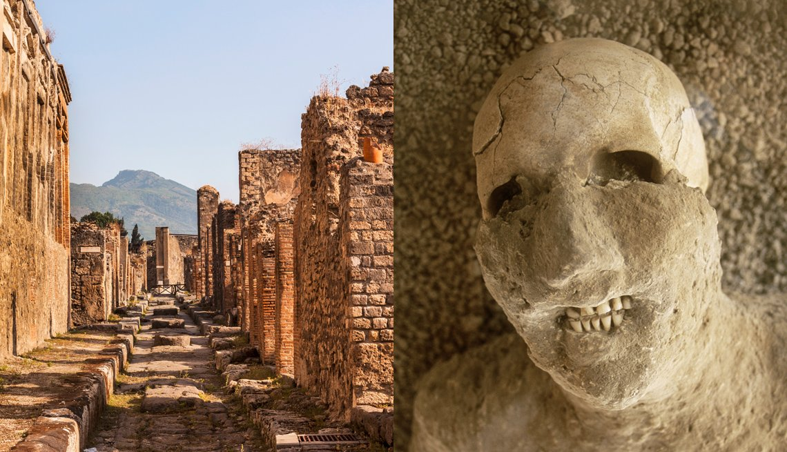 The City Ruins And A Corpse In Pompeii And Herculaneumi Italy, International Ruins
