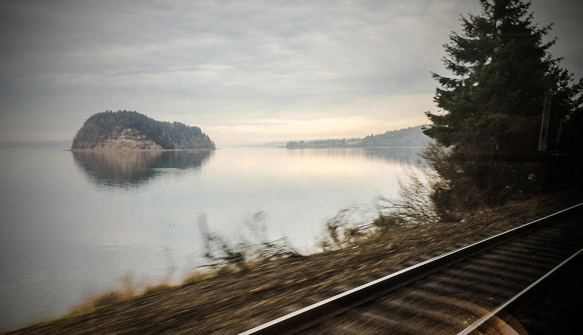 The Moody View From The Train Off The Amtrak Cascade Route, Scenic Railways