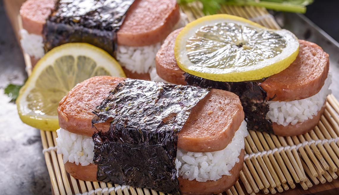 Spam Musubi with lemon