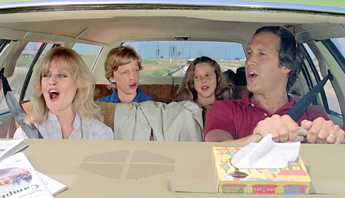 National Lampoon's Vacation (1983)Directed by Harold RamisShown from left: Beverly D'Angelo, Anthony Michael Hall, Dana Barron, Chevy Chase