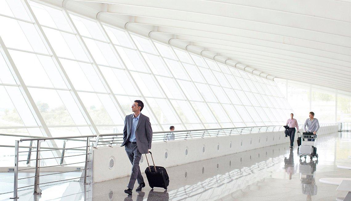passengers at an airport terminal