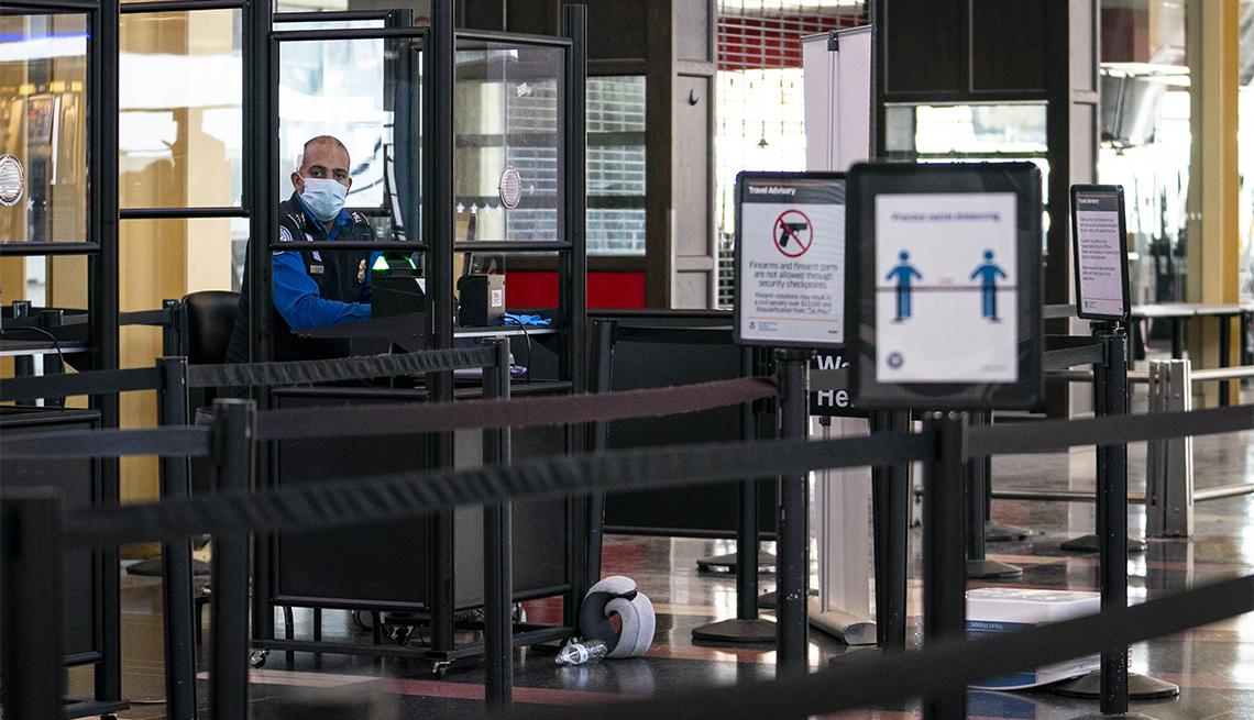Punto de seguridad en un aeropuerto