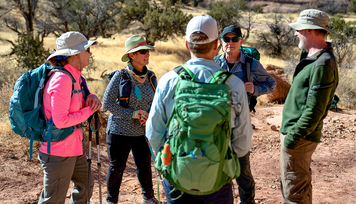 Group of hikers in their 60s