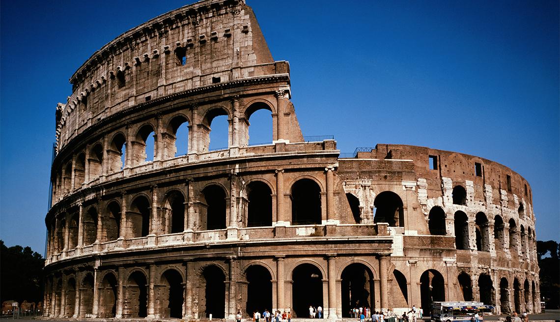 El Coliseo en la ciudad de Roma