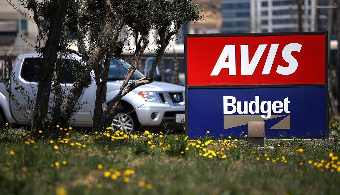 Letrero de las compañías Avis y Budget
