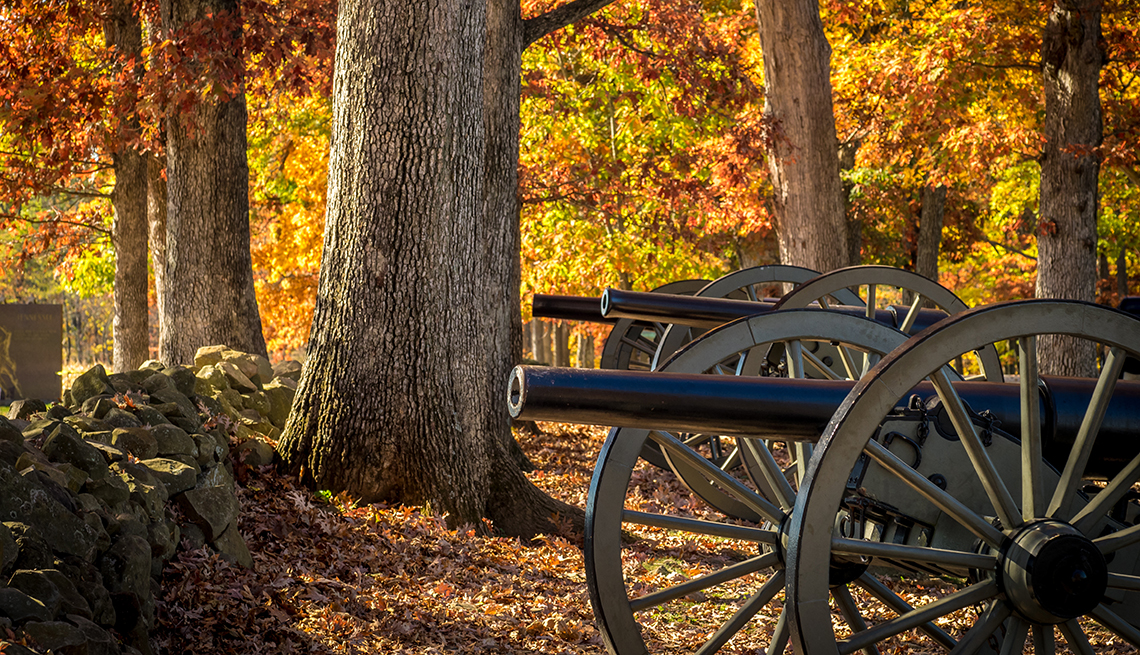item 5 of Gallery image - Gettysburg battlefield in autumn