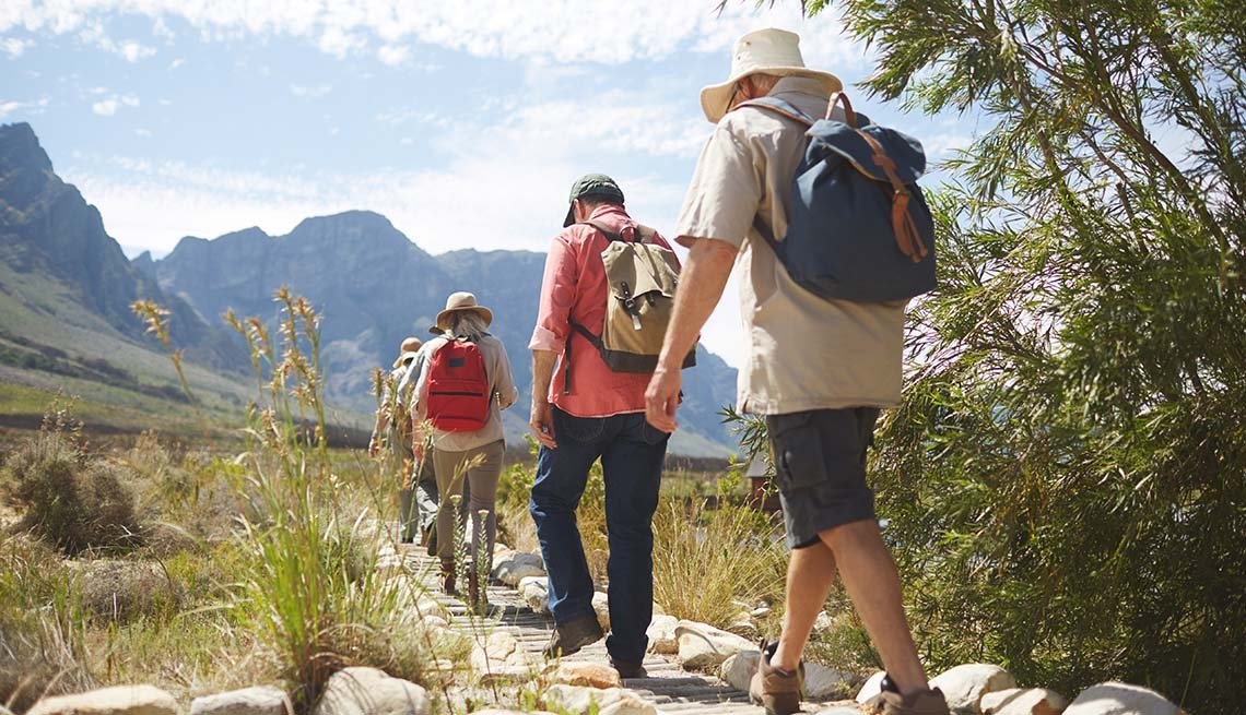 hikers in mountain