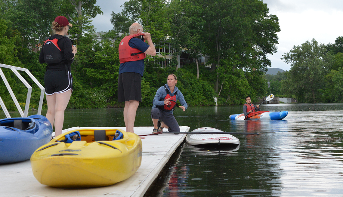 kayaking at ESCAPE Camp