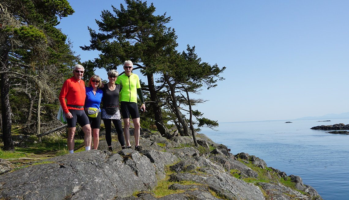 bikers in the Puget Sound