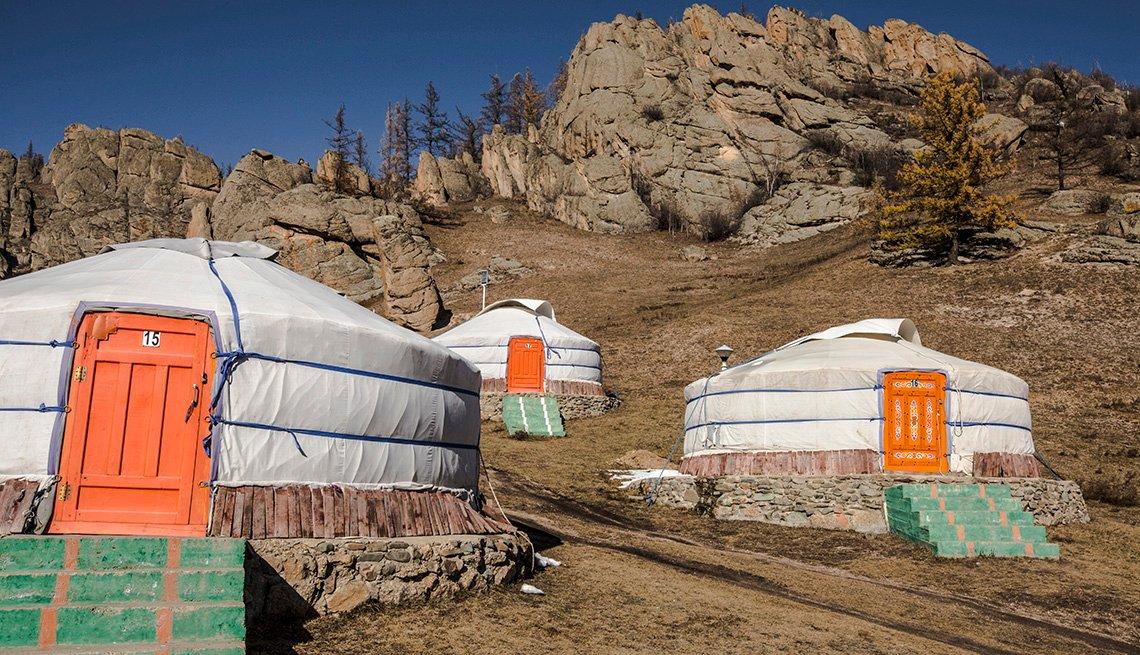 Mongolia Gorkhi Terelj National Park Traditional Yurt Ger Camp Exterior
