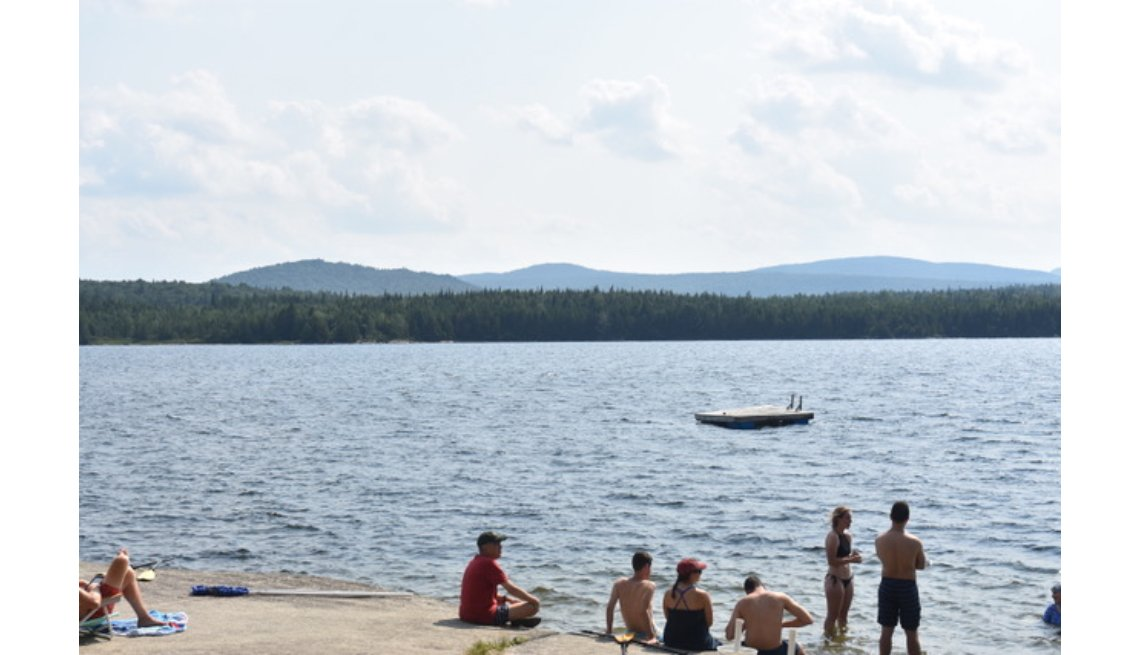 people swimming at Quimby Camp
