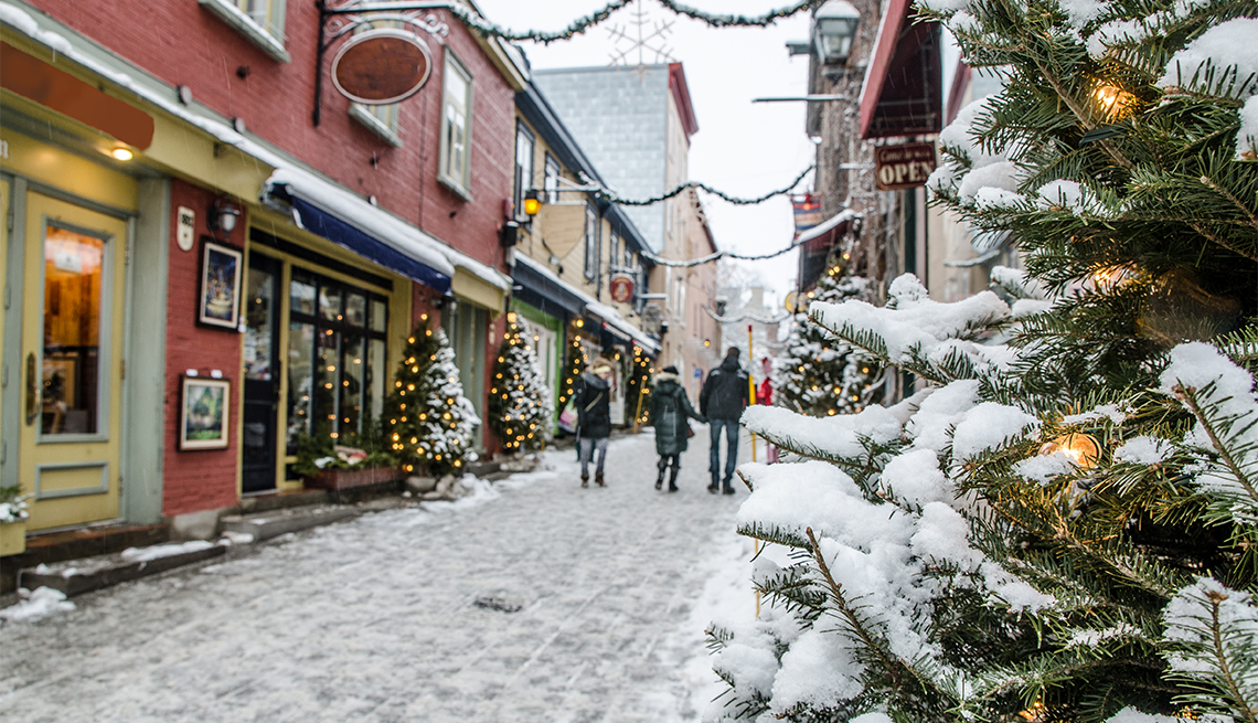 item 1 of Gallery image - People on the Petit Champlain street in Quebec city during a nice day of winter