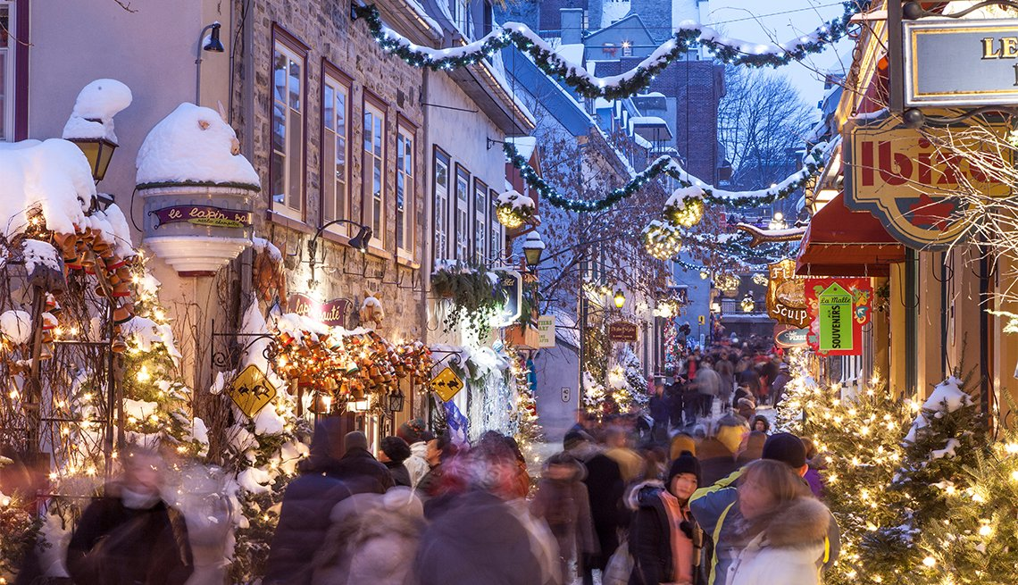 Petit-Champlain Street at Christmas time