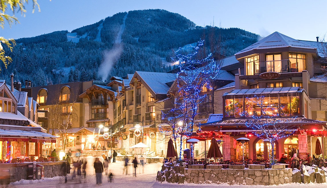 item 4 of Gallery image - Whistler Village all lit up for the holiday season