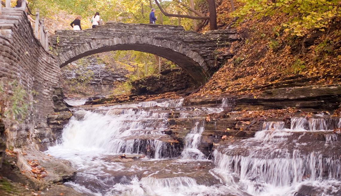Cascadilla creek gorge waterfall trail, Ithaca, NY,