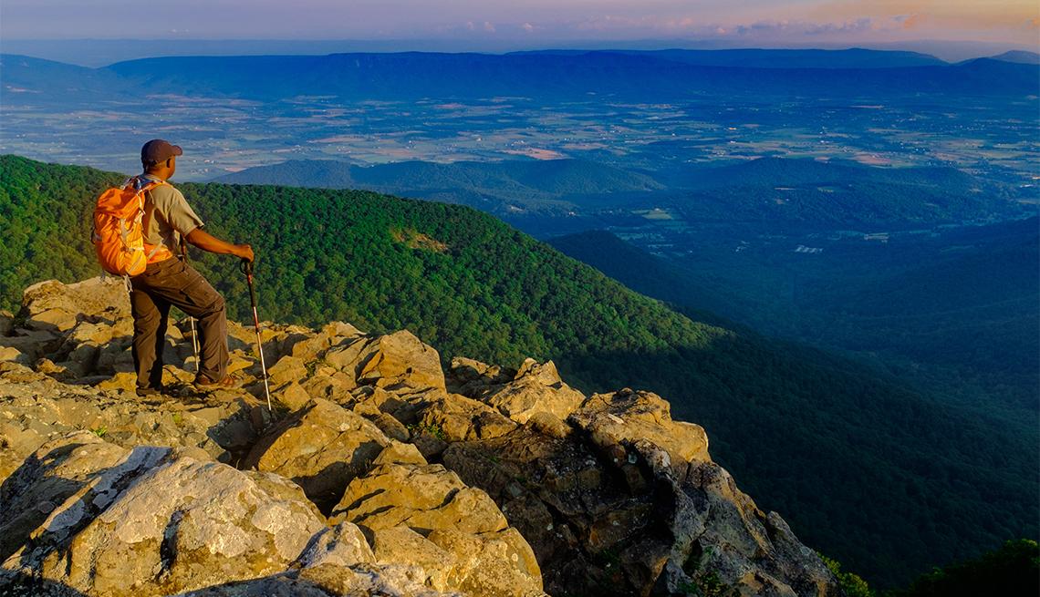 Excursionista en el Shenandoah National Park
