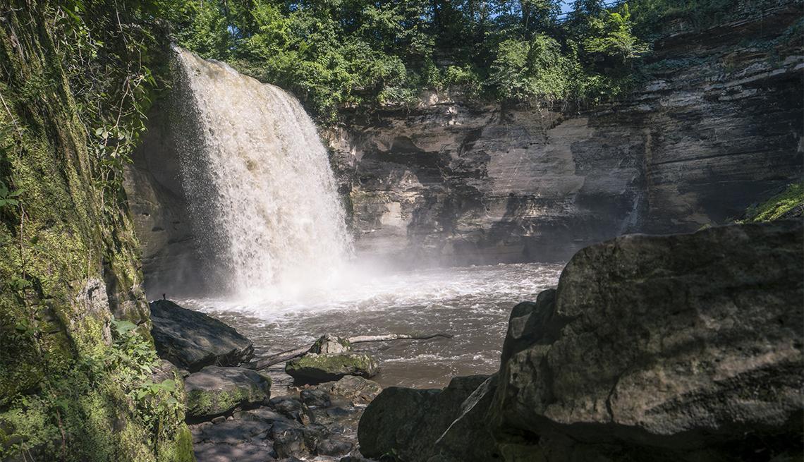 Minneopa waterfall near Mankato, Minnesota