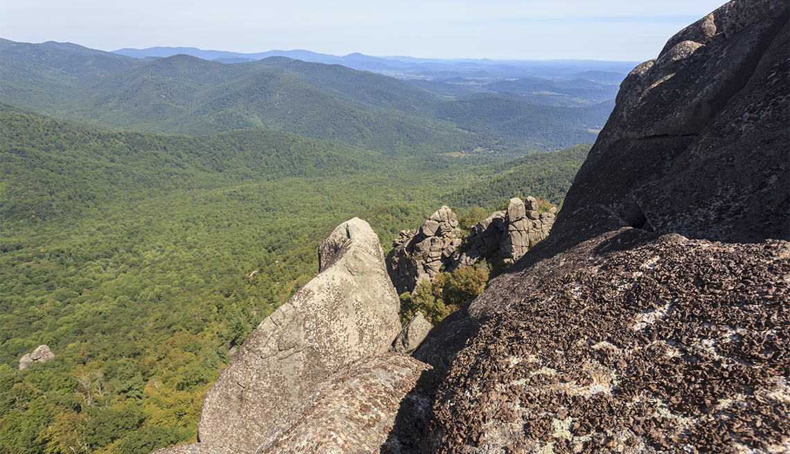 item 1 of Gallery image - Views over valley in the Shenandoah on a climb of Old Rag