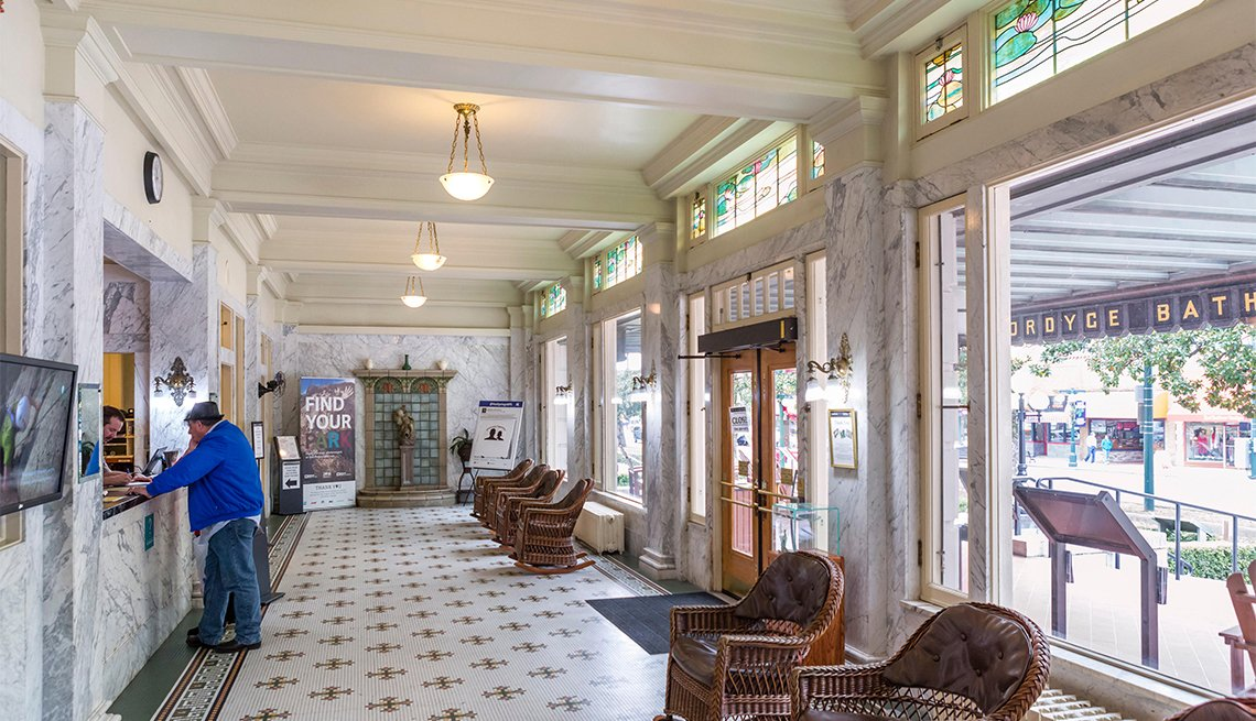 item 3 of Gallery image - Lobby of the historic Fordyce Bath House, now the visitor center, Central Avenue (Bathhouse Row), Hot Springs
