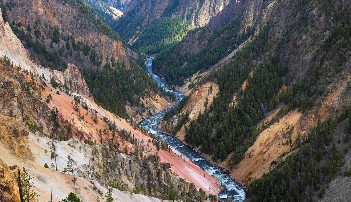 Grand Canon of Yellowstone, USA, Wyoming, Yellowstone National Park