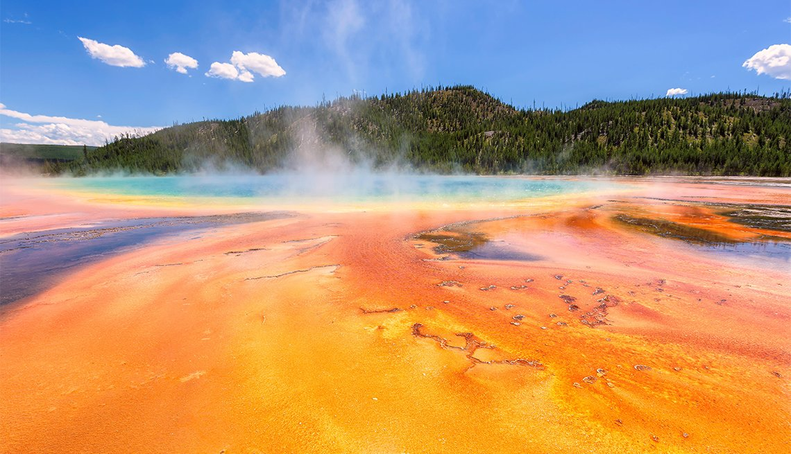 Grand Prismatic Spring en el Parque Nacional Yellowstone