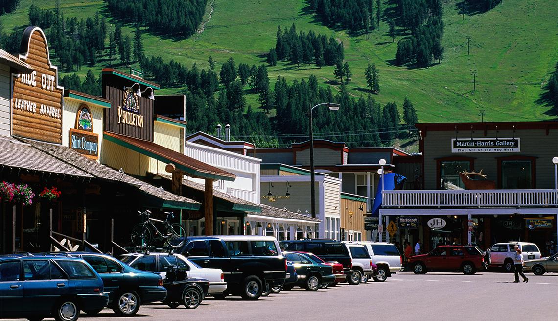 Calle comercial de Jackson, Wyoming