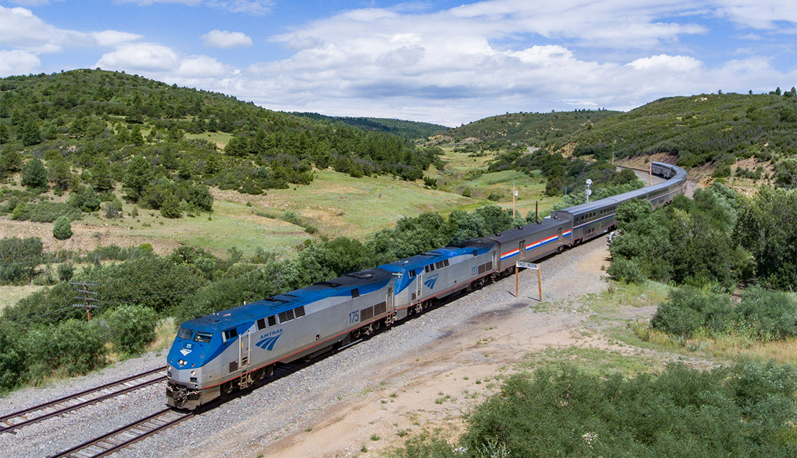 item 4 of Gallery image - aerial view of the Southwest Chief near Keota, N.M.