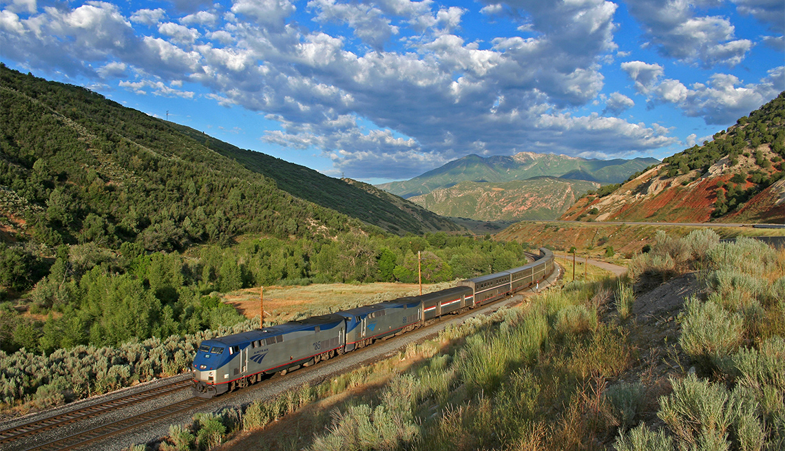 item 1 of Gallery image - aerial view of Amtrak Zephyr train