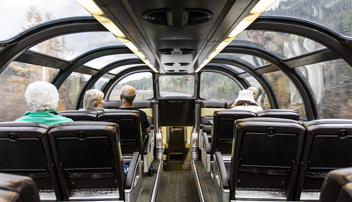 item 3 of Gallery image - Passengers on the top level of the Canadian Pacific Train
