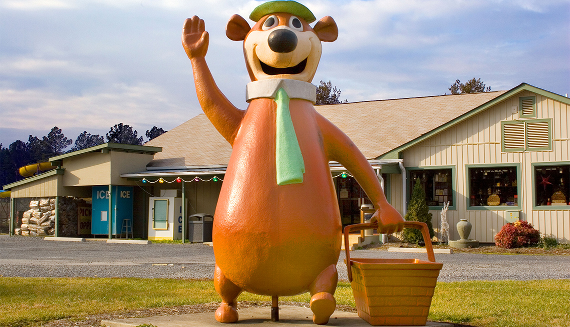 item 2 of Gallery image - Yogi Bear statue at a Jellystone Park campground in Luray Virginia