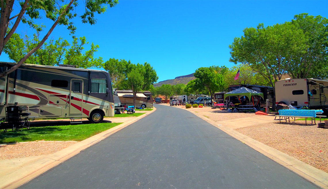 item 10 of Gallery image - Motorhome on a campground in Zion National Park