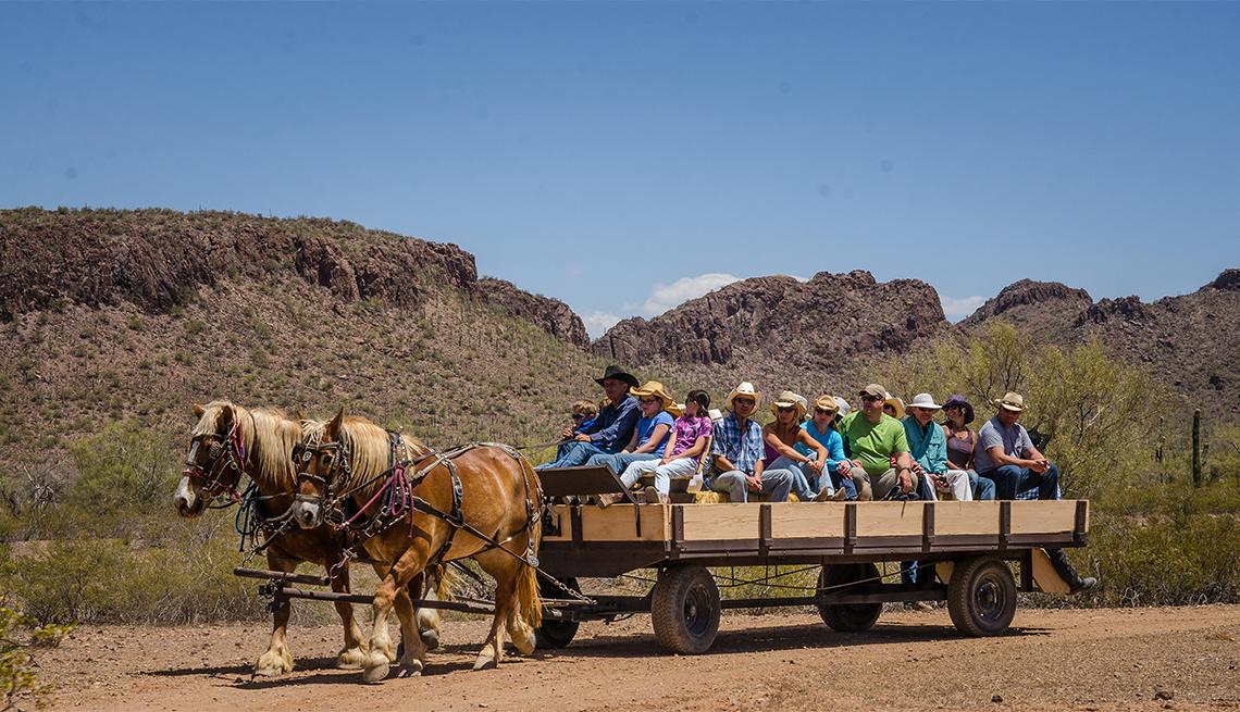 Hayride at White Stallion Ranch