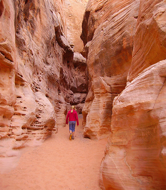 female hiker at Valley of Fire