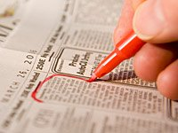 Newspaper with job listings, Want-ad terms and their meanings quiz