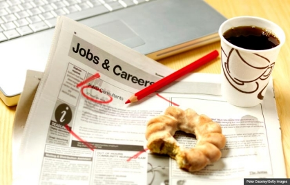 Kerry Hannon where the jobs are 50 recession older workers americans job security classified ads donut coffee retirement (Peter Dazeley/Getty Images)
