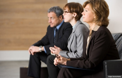 People waiting for job interview, Tips to avoid job search mistakes (Image Source/Alamy)