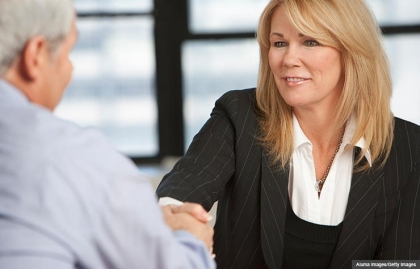 Business meeting. Tips to improve your LinkedIn profile. (Aluma Images/Getty Images)