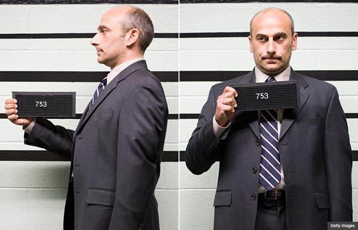mugshot, credit score job search (Getty Images)