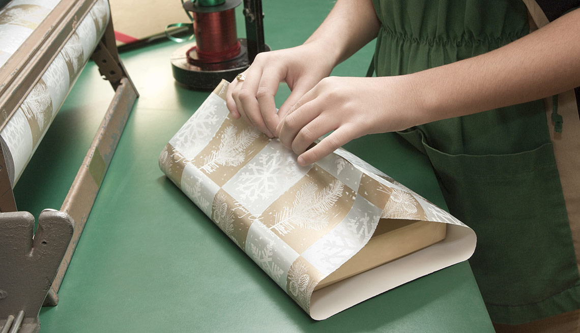 retail gift wrapping is one of the best seasonal jobs