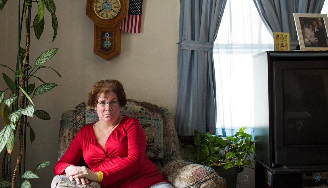 Arlene Briere, en su casa